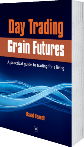 Cover of Day Trading Grain Futures by David Bennett