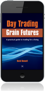 Cover of Day Trading Grain Futures on Mobile by David Bennett