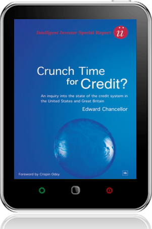 Cover of Crunch Time for Credit?  on Tablet by Edward Chancellor