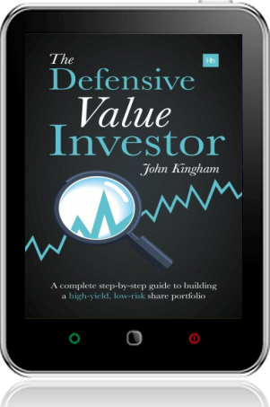Cover of The Defensive Value Investor on Tablet by John Kingham