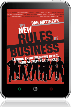 Cover of The New Rules of Business on Tablet by Dan Matthews