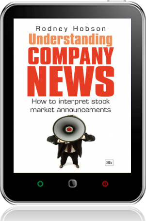 Cover of Understanding Company News on Tablet by Rodney Hobson
