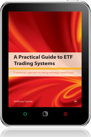 Cover of A Practical Guide to ETF Trading Systems on Tablet by Anthony Garner