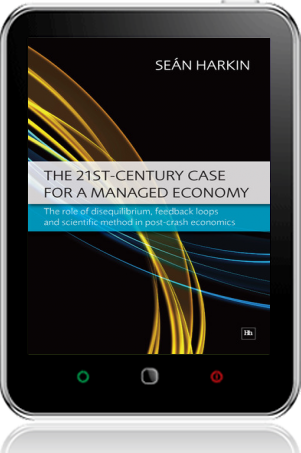 Cover of The 21st-Century Case for a Managed Economy on Tablet by Sean Harkin