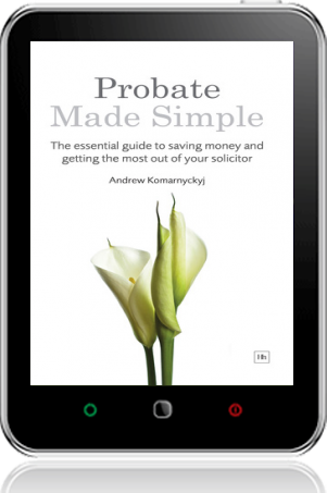 Cover of Probate Made Simple on Tablet by Andrew Komarnyckyj