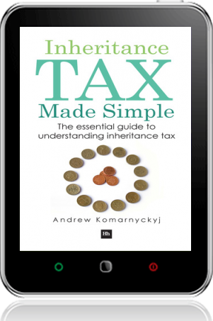 Cover of Inheritance Tax Made Simple on Tablet by Andrew Komarnyckyj
