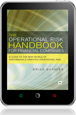 Cover of The Operational Risk Handbook for Financial Companies on Tablet by Brian Barnier