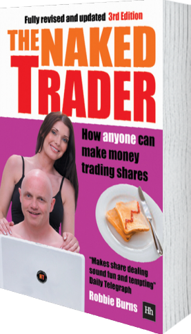 Cover of The Naked Trader (Hardback) by Robbie Burns