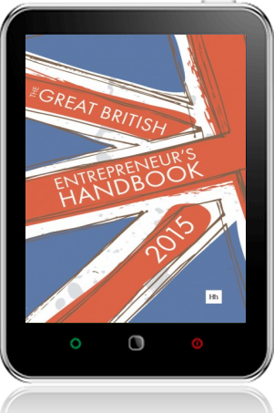 Cover of The Great British Entrepreneur's Handbook 2015 on Tablet by Simon Burton