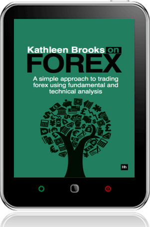 Cover of Kathleen Brooks on Forex on Tablet by Kathleen Brooks