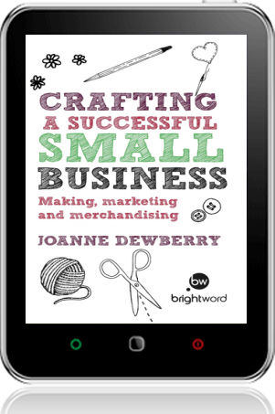 Cover of Crafting a Successful Small Business on Tablet by Joanne Dewberry
