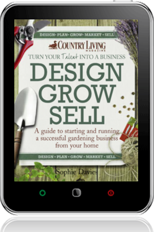Cover of Design Grow Sell on Tablet by Sophie Davies