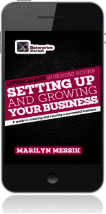 Cover of Little Black Business Books - Setting Up and Growing Your Business on Mobile by Marilyn Messik