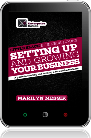 Cover of Little Black Business Books - Setting Up and Growing Your Business on Tablet by Marilyn Messik
