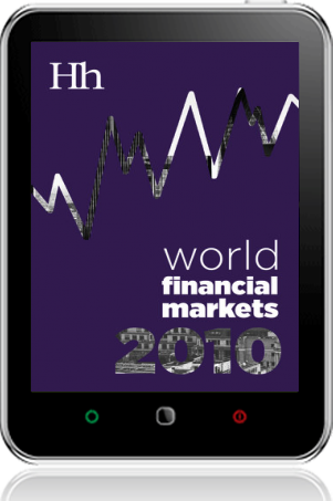 Cover of World Financial Markets in 2010 on Tablet by George G. Blakey