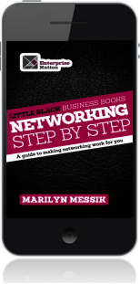 Cover of Little Black Business Books - Networking Step By Step on Mobile by Marilyn Messik