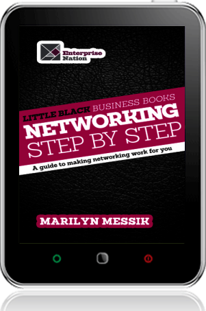 Cover of Little Black Business Books - Networking Step By Step on Tablet by Marilyn Messik