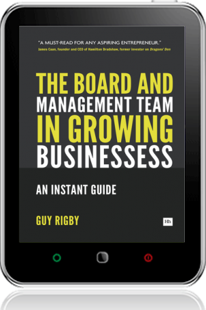 Cover of The Board and Management Team in Growing Businesses (Tablet)