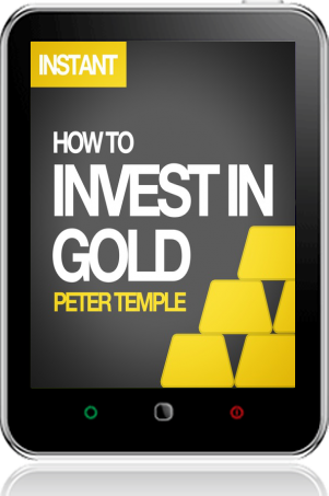 Cover of How to Invest in Gold on Tablet by Peter Temple