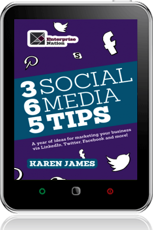 Ebooks harriman house cover of 365 social media tips on tablet by karen james fandeluxe PDF