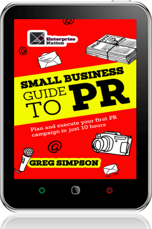 Cover of The Small Business Guide to PR on Tablet by Greg Simpson