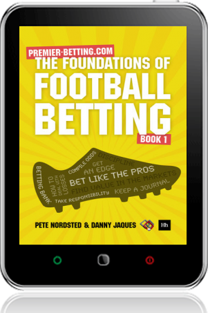 Cover of The Foundations of Football Betting on Tablet by Pete Nordsted and Danny Jaques