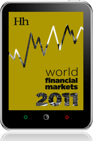 Cover of World Financial Markets in 2011 on Tablet by George G. Blakey