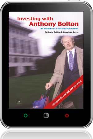 Cover of Investing with Anthony Bolton on Tablet by Jonathan Davis andAnthony Bolton