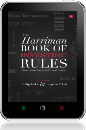 Cover of The Harriman Book Of Investing Rules on Tablet by Stephen Eckett