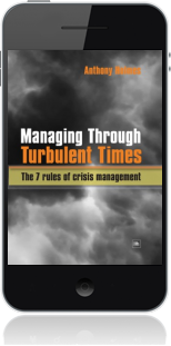 Cover of Managing Through Turbulent Times on Mobile by Anthony Holmes