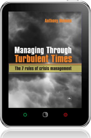Cover of Managing Through Turbulent Times on Tablet by Anthony Holmes