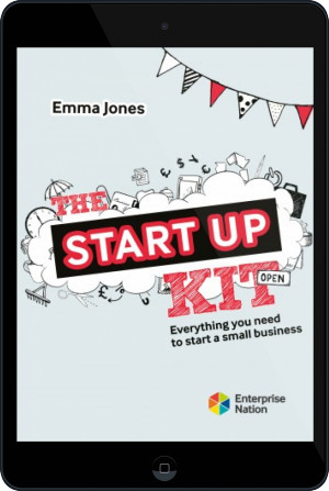 Cover of The StartUp Kit on Tablet by Emma Jones