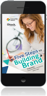 Cover of Five Steps to Building a Brand on Mobile by Enterprise Nation and iStock by Getty Images