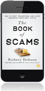 Cover of The Book of Scams on Mobile by Rodney Hobson