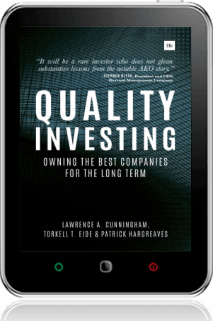Cover of Quality Investing on Tablet by Torkell T. Eide andLawrence A. Cunningham andPatrick Hargreaves