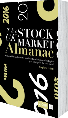 Cover of The UK Stock Market Almanac 2016 by Stephen Eckett