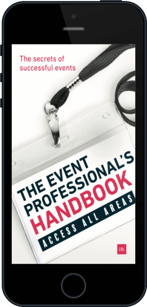 Cover of The Event Professional's Handbook on Mobile by Exposure Communications Ltd
