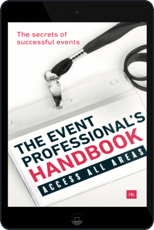 Cover of The Event Professional's Handbook on Tablet by Exposure Communications Ltd