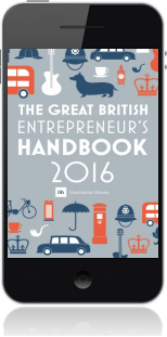 Cover of The Great British Entrepreneur's Handbook 2016 on Mobile by Simon Burton