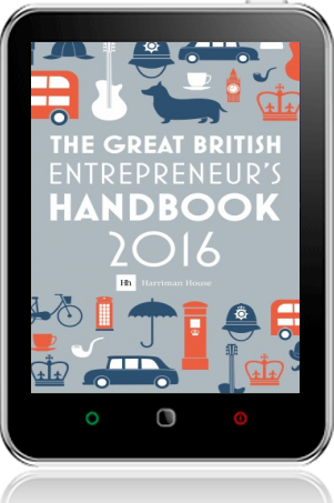 Cover of The Great British Entrepreneur's Handbook 2016 on Tablet by Simon Burton