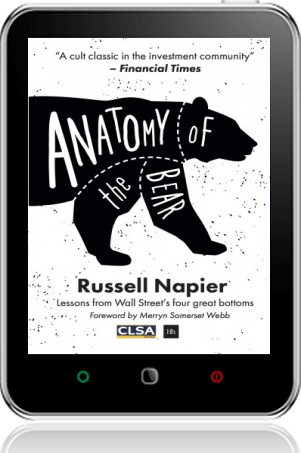 Cover of Anatomy of the Bear on Tablet by Russell Napier