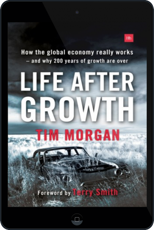 Cover of Life After Growth (Paperback) on Tablet by Tim Morgan
