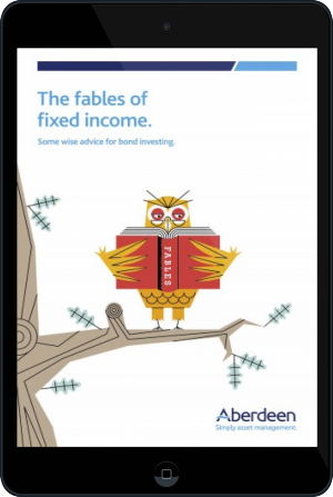 Cover of The Fables of Fixed Income on Tablet by