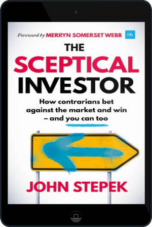 Cover of The Sceptical Investor on Tablet by John Stepek