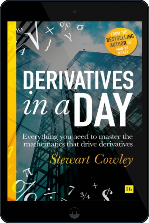 Cover of Cowley on Derivatives on Tablet by Stewart Cowley