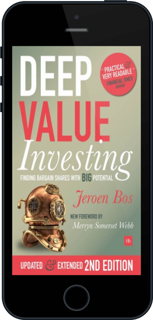 Cover of Deep Value Investing on Mobile by Jeroen Bos
