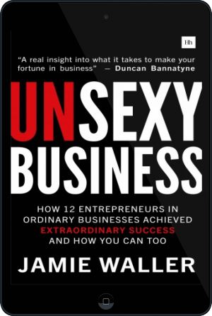 Cover of Unsexy Business on Tablet by Jamie Waller