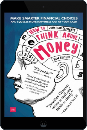 Cover of How to Think About Money on Tablet by Jonathan Clements