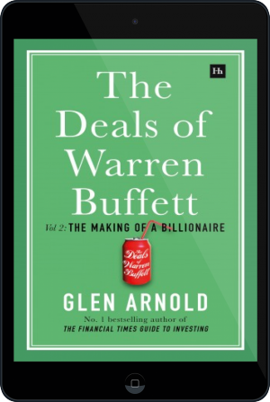 Cover of The Deals of Warren Buffett Volume 2 on Tablet by Glen Arnold