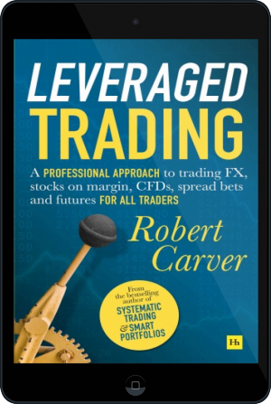 Cover of Leveraged Trading on Tablet by Robert Carver